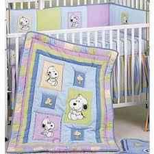 Snoopy Nursery Decor Snoopy And Family 6 Crib Bedding Set Findgift