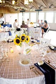 sunflower and babys breath wedding centerpieces elizabeth anne