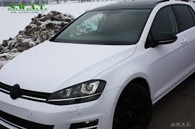 white volkswagen golf vw golf 7 white matte mactac wrap video by domco youtube