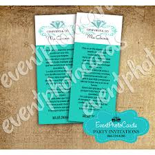 quinceanera favors personalized quinceanera favors tifanny teal bookmark for favor