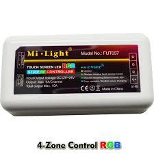 led strip lights wifi controller 10m 15m 20m led strip light rgb 5050 dc 12v flexible tape 4 zone