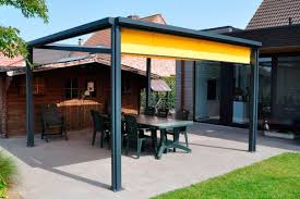 Metal Pergola With Canopy by Self Supporting Pergola Metal Fabric Canopy Kub Tir
