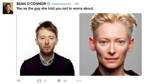 Thom Yorke Meme - tilda swinton vs thom yorke you vs the guy she told you not to