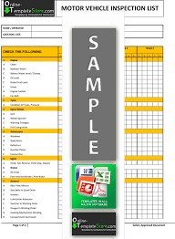 Vehicle Inspection Report Template Free by Health Safety Forms Construction Templates