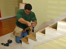 Laminate Flooring Installation On Stairs How To Install New Stair Treads And Railings How Tos Diy