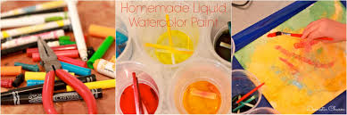 domestic charm homemade liquid water color paint for kids