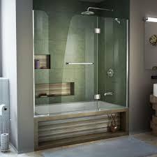 Shower Tub Door by Dreamline Aqua 56 In To 60 In X 58 In Semi Framed Hinged Tub