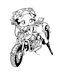 betty boop coloring pages coloring pages print