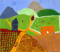 art for small hands in the style of grandma moses