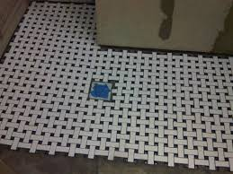 merola tile basket weave white and cobalt 9 3 4 in x 9 3 4 in x