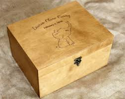 personalized baby jewelry box custom quote wooden box memory box engraved quote box