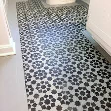 stenciled floor you can paint your ugly vinyl tile semigloss