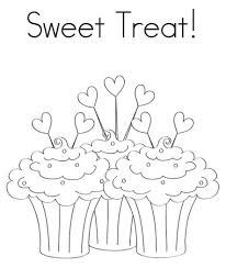 cake coloring pages printable sweet treat birthday coloring