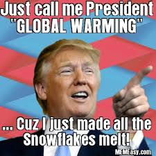 Global Warming Meme - trump is global warming he made all the snowflakes melt memeasy