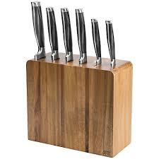 lewis kitchen knives oliver 6 filled acacia knife block oliver