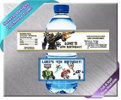 transformers rescue bots party supplies transformers rescue bots water bottle labels birthday party baby