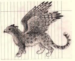 griffin sketch leopard hawk by kazekori on deviantart