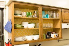 open shelf kitchen cabinet ideas kitchen wooden inexpensive open shelves with wall color
