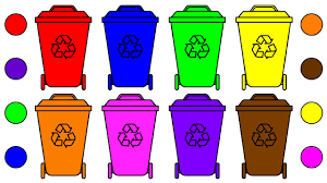 learn colors for kids with garbage truck dust bin coloring page