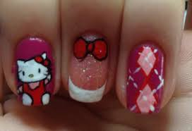hello kitty nail art tutorial request youtube