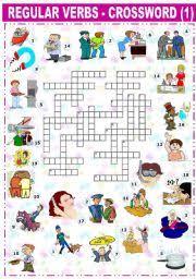 worksheet regular verbs crossword 1