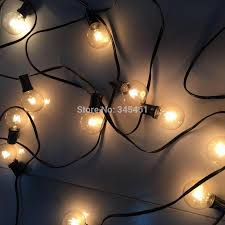 Clear Globe String Lights Outdoor by 50ft Globe String Lights G50 50 Clear Globe Bulbs 220 110v Black
