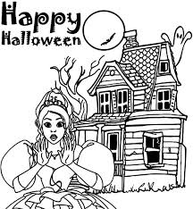 happy halloween haunted house coloring pages coloring sun