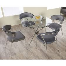 glass table top bumpers modern dining tables hylda 36 dining table eurway