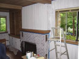 Wood Paneling Walls Whitewash Wood Paneling Makeover Before And After Best House Design