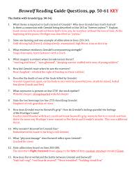 themes of beowulf poem beowulf questions pp 50