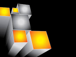 3d templates for powerpoint yellow and grey 3d blocks background for powerpoint templates ppt