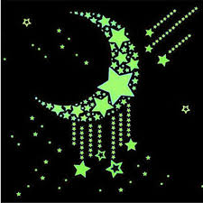 glow in the dark star designs 100 pcs wall stickers illuminate in the dark baby kids bedroom decor bright stars of fluorescent