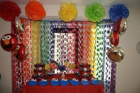 how to decorate birthday party at home sesame street homemade party decorations home made tierra este 6035