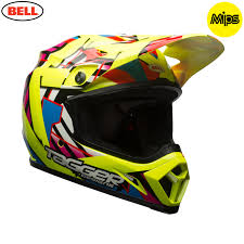 ufo motocross gear 2018 bell mx 9 mips helmet tagger double trouble hi viz