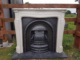 133 cast iron fireplace surround fire marble arch arched antique
