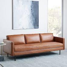 Midcentury Leather Sofa Mid Century Furniture West Elm