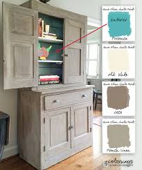 Painted Old Kitchen Cabinets Stepback Cupboards Annie Sloan Chalk Paint Old White Coco