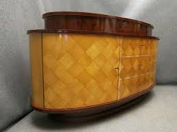 vintage art deco sideboard oval shape