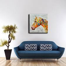 yhhp abstract colorful horse head canvas oil painting 30 04