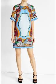 emilio pucci shirts emilio pucci printed silk dress multicolored
