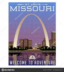 United Luggage by Missouri United States Travel Poster Or Luggage Sticker Scenic