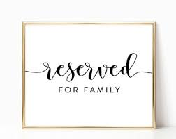 printable reserved table signs reserved for the wedding party sign reserved table sign