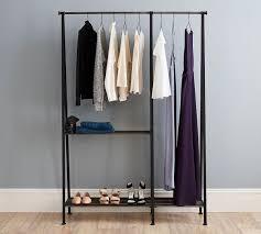 bedroom furniture portable wardrobe rolling hanging rack garment
