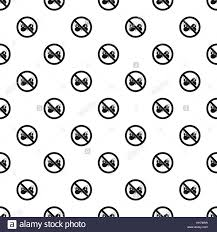 prohibition sign butterfly pattern simple style stock vector