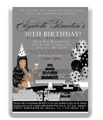 design elegant 30th birthday party invitation cards with silver