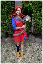 Pippi Longstocking Costume Pippi With Mr Nilsson The Monkey Theme Me Costume Fancy Dress