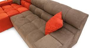 Couch Depth Cubix Sofa Sectional Left Plush Coral Mushroom Kardiel