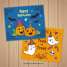 Halloween Desktop Wallpaper Cute Monster And Ghost By Sl Designs by Halloween Card Vectors Photos And Psd Files Free Download