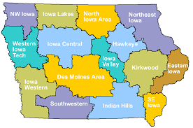 state of iowa map community colleges iowa department of education