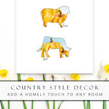 Farm Animal Prints Animal Nursery Prints